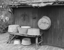 Cubas de lavagem velhas Imagens de Stock Royalty Free