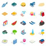 Cubby icons set, isometric style. Cubby icons set. Isometric set of 25 cubby vector icons for web isolated on white background Stock Photos