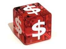 cube доллар Стоковое фото RF