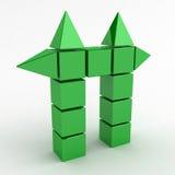 cube зеленый цвет строба Стоковые Изображения