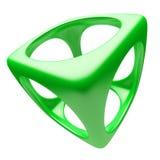 cube зеленый цвет Стоковая Фотография
