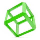 cube зеленый цвет Стоковое Фото