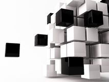 Cube. A 3d maded cube on a white background Royalty Free Stock Images