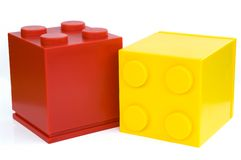 Cube. Colorful cubes on white background Royalty Free Stock Images