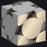 Cube. Vector illustration of abstract cube Stock Photography