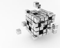 Cube. A group of cubes on a white background Royalty Free Stock Photo