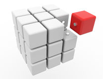 Cube 3D. On a white background. Isolated Stock Photography