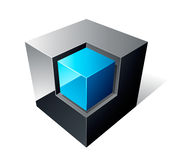 Cube 3d Design. Isolated on white Royalty Free Stock Photo