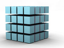 The Cube 4. #4 - a 3d render of a cube (part of a series stock illustration