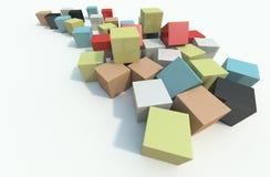 Cube. Meny meny cube in the sence stock illustration