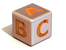 Cube with ABC. Alphabet. Royalty Free Stock Photography