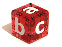 Cube with ABC. Alphabet. 3d Very beautiful three-dimensional illustration, figure Royalty Free Stock Photography