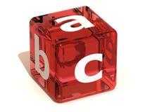 Cube with ABC. Alphabet Royalty Free Stock Photos