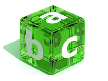 Cube with ABC. Alphabet. 3d Very beautiful three-dimensional illustration, figure Stock Photo