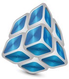 Cube  abstract. Illustration with shadow eps 8 Royalty Free Stock Photo