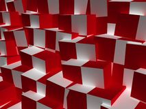 Cube abstract background. The chaos cube abstract background Royalty Free Stock Photos