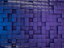 Cube abstract background. 3D rendering Stock Image