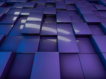 Cube abstract background. 3D rendering Royalty Free Stock Photo