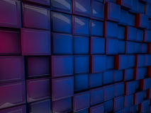 Cube abstract background. 3D rendering Royalty Free Stock Image