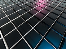 Cube abstract background. 3D. Rendering vector illustration