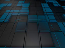 Cube abstract background. 3D. Rendering Stock Photography