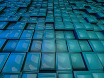 Cube abstract background. 3D. Rendering Royalty Free Stock Image