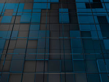 Cube abstract background. 3D. Rendering Royalty Free Stock Images