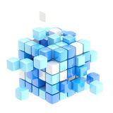 Cube abstract background isolated Royalty Free Stock Images