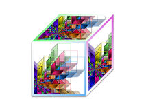 Cube - Abstract geometrical shape Royalty Free Stock Photography