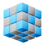 Cube abstract illustration Stock Images