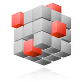 Cube abstract illustration Stock Photos