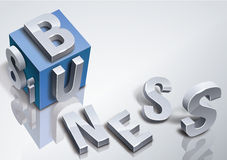 Cube abstrait en affaires Images stock