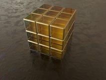 Cube abstrait en verre illustration libre de droits