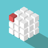 Cube assembled of blocks Royalty Free Stock Photo