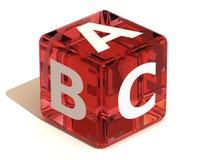 Cube avec l'ABC. Alphabet Photos stock