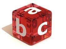 Cube avec l'ABC. Alphabet. Photographie stock libre de droits