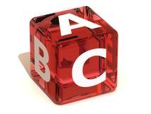 Cube avec l'ABC. Alphabet Image libre de droits