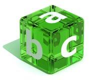Cube avec l'ABC. Alphabet Photo stock