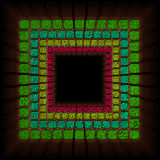 Cube background. This is backbround with cubes with green yellow and pink color Royalty Free Stock Image