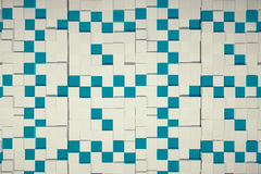 Cube background. Abstract blue and white cubes background. 3D Rendering Stock Photo