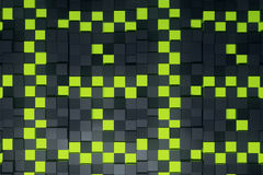 Cube background. Abstract green and black cubes background. 3D Rendering Stock Image