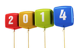 Cube balloons New Year 2014 Royalty Free Stock Photo