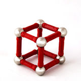 Cube of balls Royalty Free Stock Photography