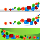 Cube Banner Set Stock Photography