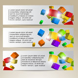 Cube Banners Stock Photography