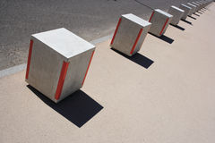 Cube barrier Royalty Free Stock Images