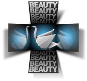 Cube beauty swan Royalty Free Stock Photography