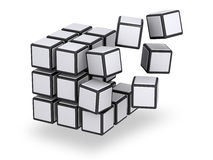 Cube being assembled or disassembled Stock Photography