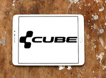Cube Bikes company logo. Logo of Cube Bikes company on samsung tablet. CUBE is a German bicycle manufacturer that produces many types of bike, but is best known stock images