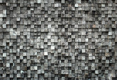 Cube black wood Royalty Free Stock Photos